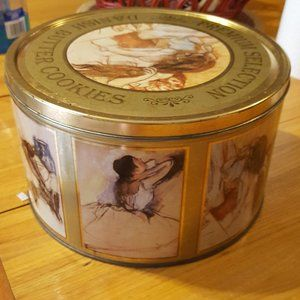 Vintage Danish Butter Cookies Ballerina Metal Tin